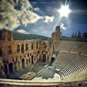 Odeon of Herodes Atticus http://en.wikipedia.org/wiki/Odeon_of_Herodes_Atticus , Acropolis of Athens,  Greece :heart: